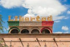 Street decoration in Saltillo Mexico stock photos