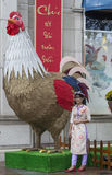 Street decorations in Ho Chi Minh city Stock Photography