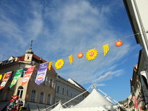 Street decorations in Klagenfurth Royalty Free Stock Photography