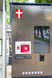 Street defibrillator - life saving - for public access Royalty Free Stock Photos