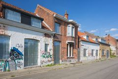 Street with deserted houses Royalty Free Stock Photography