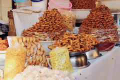 Street dessert stand in Fez, Morocco Royalty Free Stock Photo