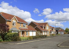 Street of detached houses Stock Photos