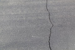 Street in detail with cracked asphalt Stock Photos