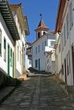 Street of diamantina. One street of Diamantina, colonial hystorical brazilian city, at Minas Gerais Royalty Free Stock Photography