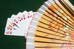 Street of Diamonds with a fan Royalty Free Stock Photography