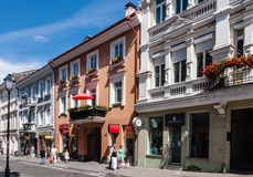 Street Didzioji, Vilnius, Lithuania Royalty Free Stock Photography