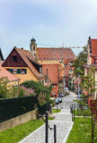 Street in Dinkelsbuhl; Bavaria; Germany Stock Images