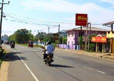 Street, district Koggala, Sri Lanka Royalty Free Stock Images