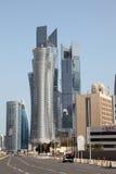 Street in Doha downtown Al Dafna. Qatar Stock Images