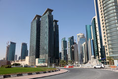 Street downtown in Doha Stock Photos