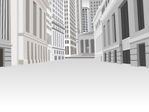 Street of downtown financial district. In New York Royalty Free Stock Images
