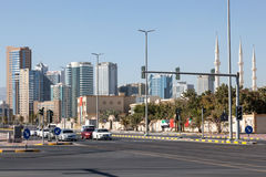 Street downtown in Fujairah City Stock Images
