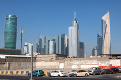 Street downtown in Kuwait City Royalty Free Stock Images