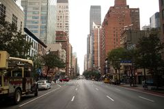 Street in Downtown Manhattan, New York City. City street in Manhattan, New York City Stock Image