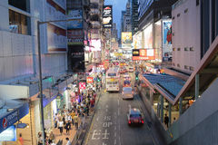 Street downtown in mong kok Hong Kong, China Royalty Free Stock Images