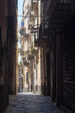 Street in downtown Naples, Italy Stock Photography