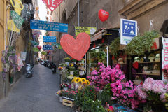 Street in downtown Naples, Italy Royalty Free Stock Photos