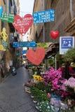 Street in downtown Naples, Italy Stock Photos