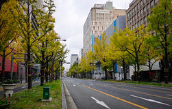 Street at downtown in Sendai, Japan Stock Photography