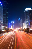 Street in downtown of shenzhen at night Stock Image