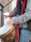 Street drummer Royalty Free Stock Photos