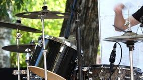 Street drummer stock video