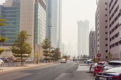 Street in Dubai city, United Arab Emirates