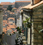 Street in Dubrovnik stock photography