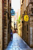 The street in Dubrovnik, Croatia. A part of the city in Croatia Royalty Free Stock Images