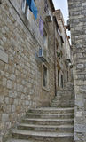 Street in Dubrovnik Old Town Royalty Free Stock Photography