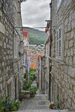 Street in Dubrovnik Old Town Royalty Free Stock Images