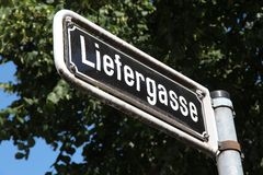 Street in Dusseldorf Stock Photo