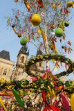 Street Easter market in Prague royalty free stock images
