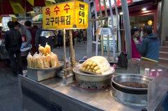 Street eats Busan South Korea stock image