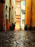 Street in Eger, Hungary royalty free stock photo