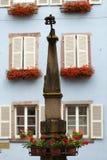 Street  in Eguisheim village Royalty Free Stock Photos