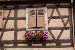 Street  in Eguisheim village Royalty Free Stock Photography