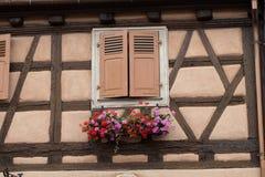 Street  in Eguisheim village Royalty Free Stock Photography