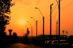Street electric pillars Stock Image