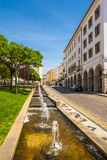 In the street of Elvas city in Portugal Royalty Free Stock Image
