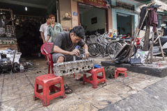 Street engine service in Saigon Royalty Free Stock Images