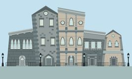 Street English Town. Flat design. Vector illustration royalty free illustration