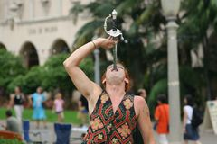 Street entertainer. In Balboa Park. San Diego, California Royalty Free Stock Photos