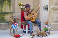 Street entertainer in Havana, Cuba Stock Photography