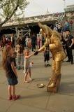 Street entertainer on the Southbank, London,UK. Stock Photo