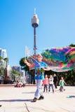 Street entertainer in Sydney, Australia, April 2012 Royalty Free Stock Image