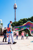 Street entertainer in Sydney, Australia, April 2012 Stock Photography