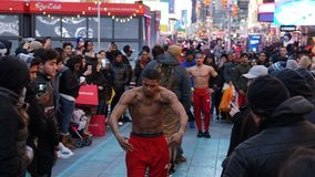 Street Entertainer on Time Square in Manhattan, New York City.  Royalty Free Stock Photography