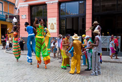 Street Entertainers In Old Havana October 2 Royalty Free Stock Image